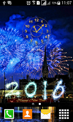 新年の時計