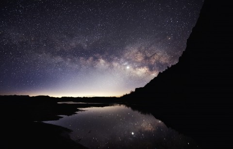 The Rio Grande River at night