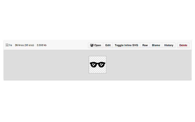 GitHub Inline SVG