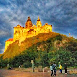 Abbey of Melk by Radu Eftimie - Buildings & Architecture Places of Worship ( hill, sunset, melk, abbex, austria )