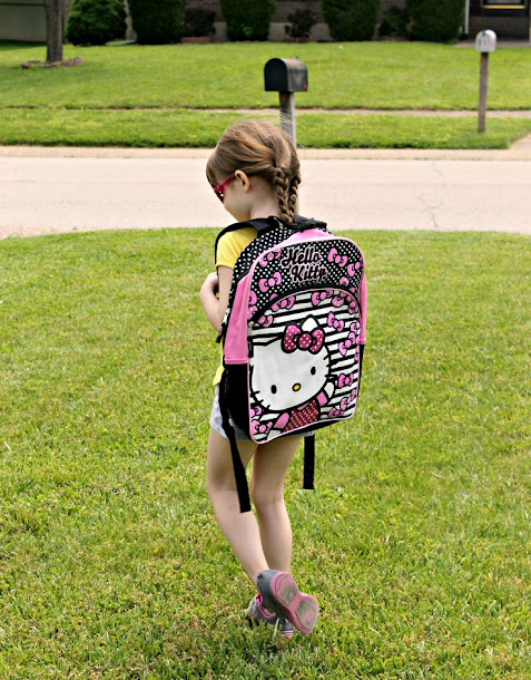 A fun way to get kids excited about kindergarten is to let them pick out their own backpack!