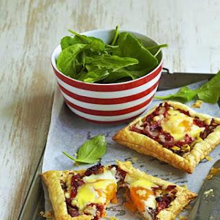 Leek, Salami and Egg Tarts.