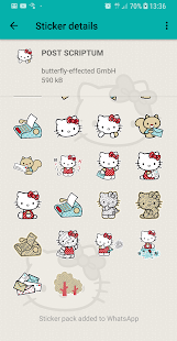 Hello Kitty Stickers - WAStickerApps for WhatsApp Screenshot