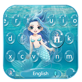 Blue Sea Water Keyboard Theme