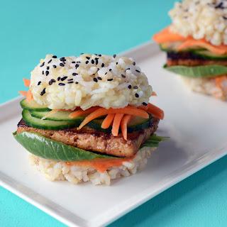 Brown Rice Sushi Slider with Teriyaki Tofu