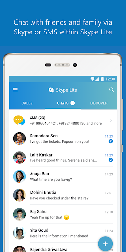 Skype Lite - Free Video Call & Chat 1.65.0.31534-release screenshots 1