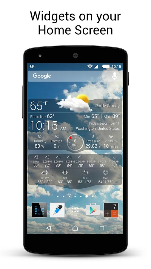 Weather Live with Widgets Free- screenshot