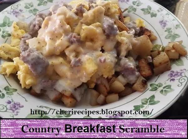 One Dish Country Breakfast Scramble