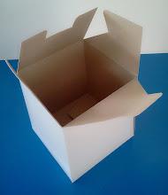 Photo: Caixa (20) para panetones e bolos (vista de cima aberta).