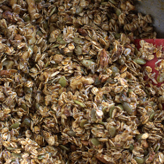 Gingerbread Granola with Cranberries and Pumpkin Seeds