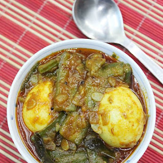 Beerakaya Kodi Guddu Kura   Andhra Ridge Gourd Egg Curry