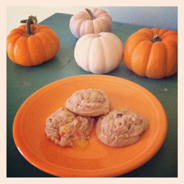 Peanut Butter Candy Corn Chocolate Chip Cookies