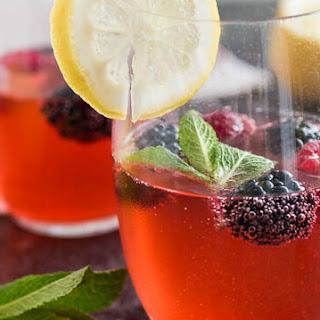 Sparkling Raspberry Mint Lemonade.