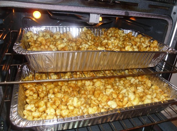 Place into the oven and bake for 1 hour. Stir the caramel corn every...