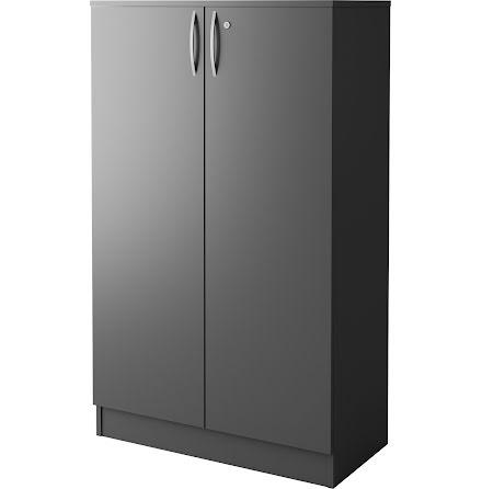 Skåp 301 med dörr mörk grå