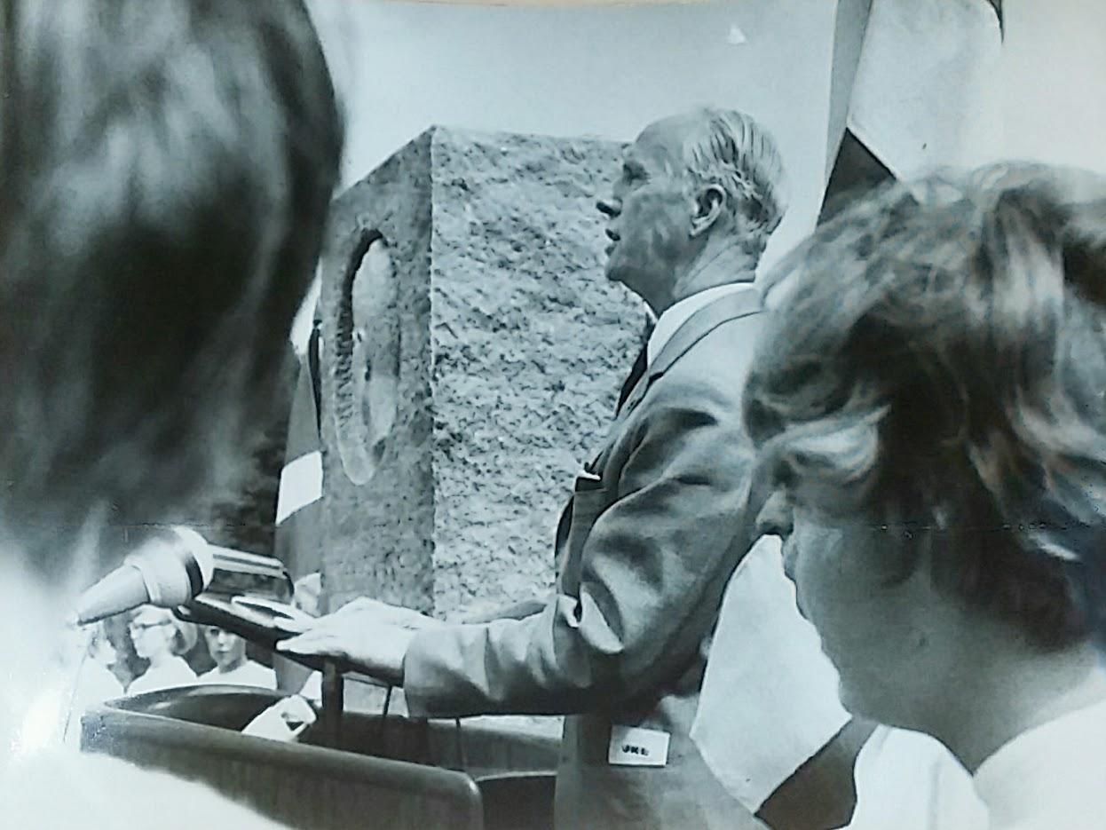Tale ved afsløringen af mindestenen den 10. juli 1966