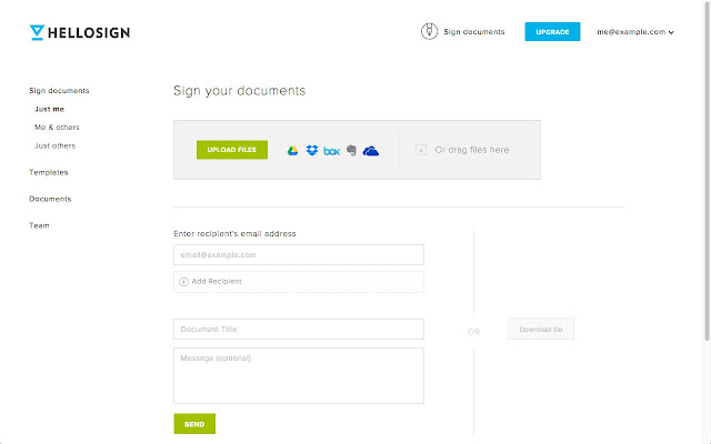 hellosign online signatures made easy chrome web store