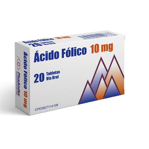 Ácido Fólico PlusAndex 10MG X 20 Comprimidos PlusAndex