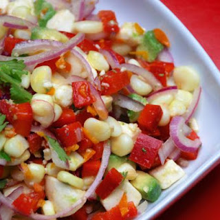 Vegetarian Ceviche Salad with Lime and Mozzarella