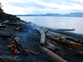 Photo: Looking across Johnstone Strait to West Cracroft Island from Vancouver Island.
