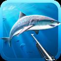 Hunter underwater spearfishing icon