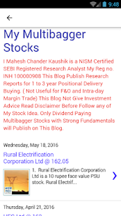 Sharegenius Multibagger Stock- screenshot thumbnail