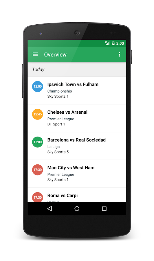 Live Football On TV Guide Free- screenshot