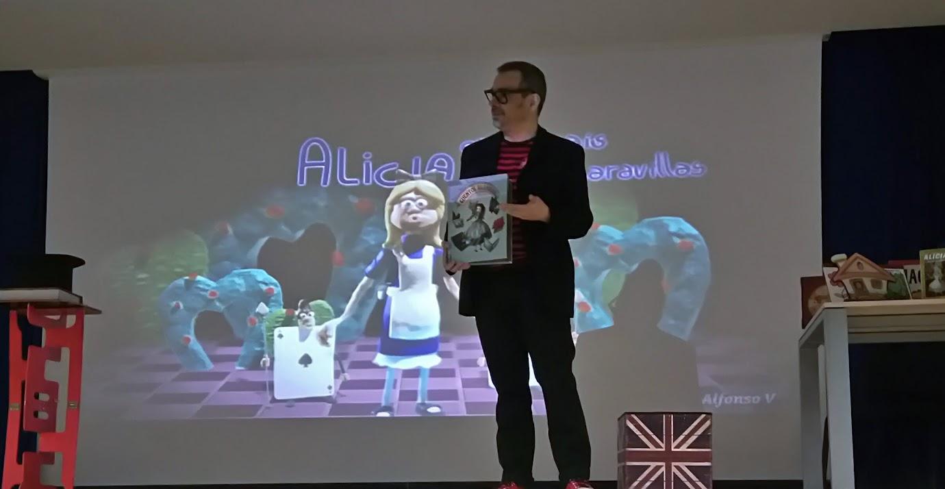magia en colegios con dibujos animados. Alicia.