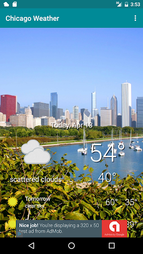 Chicago Weather screenshot for Android