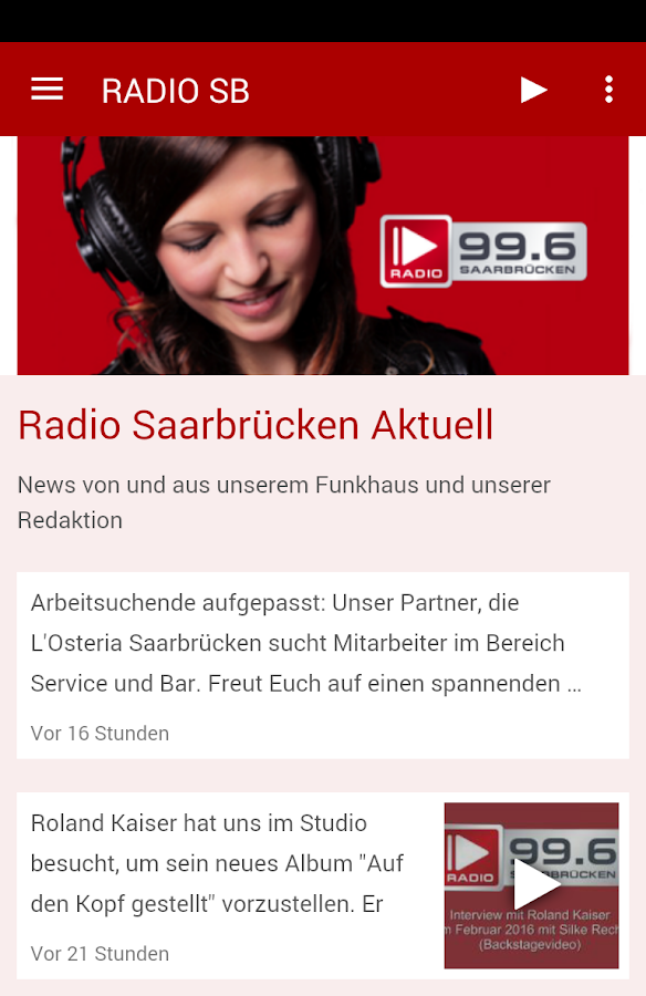 Radio Saarbrücken 99.6- screenshot