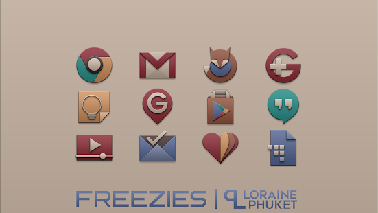 Freezies -  clean icon pack Screenshot