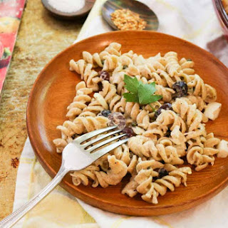 Mediterranean Tuna Pasta Salad with Capers and Olives.