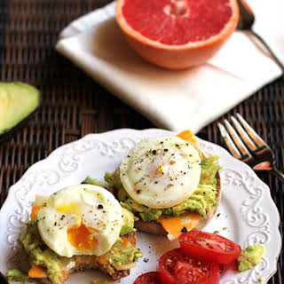 Poached Egg Avocado Muffins.