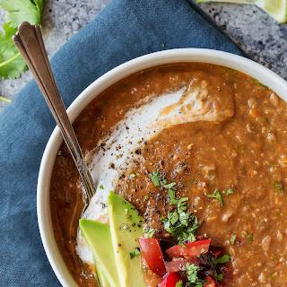 Slow Cooker Chipotle Lentil Soup.