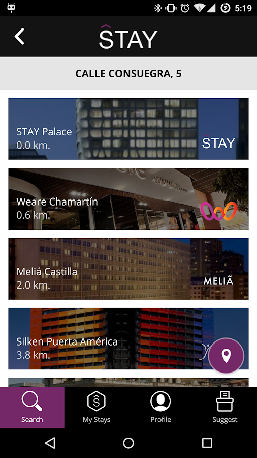 STAY Hotel Guest App- screenshot
