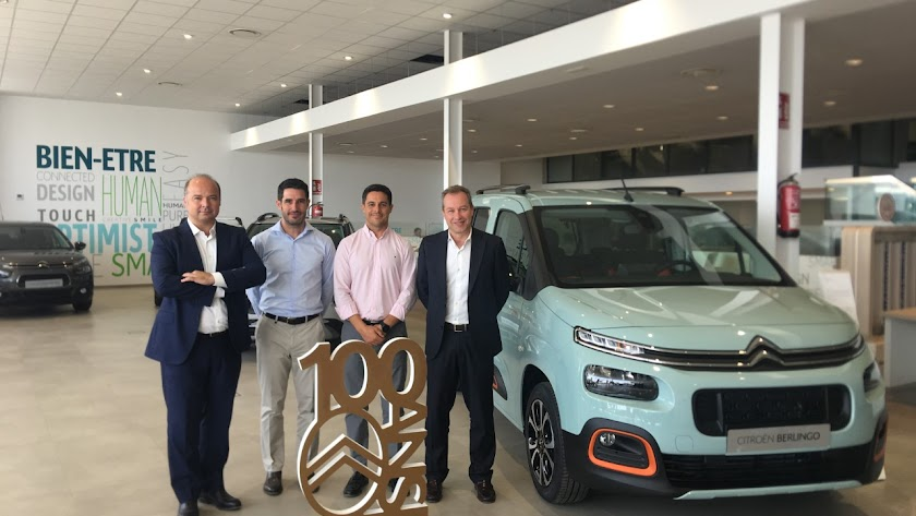 Pablo Puey con la novedad de Citroën, C5 Aircross