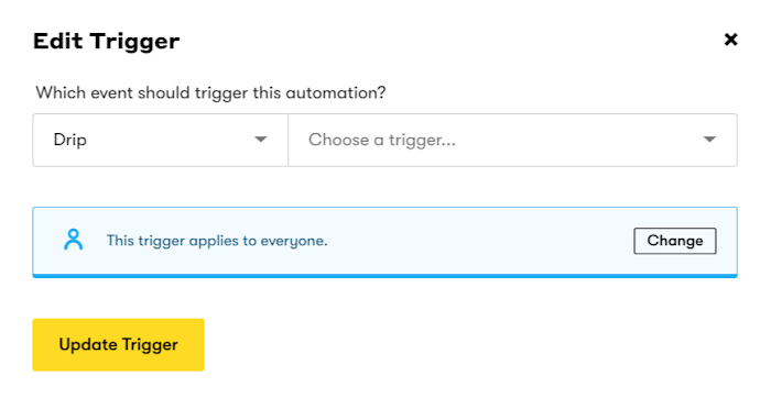 Workflow Trigger Event.