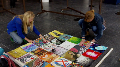 Photo: The Human Rights Flag Centre Céramique 31 March Maastricht The Netherlands: Setting