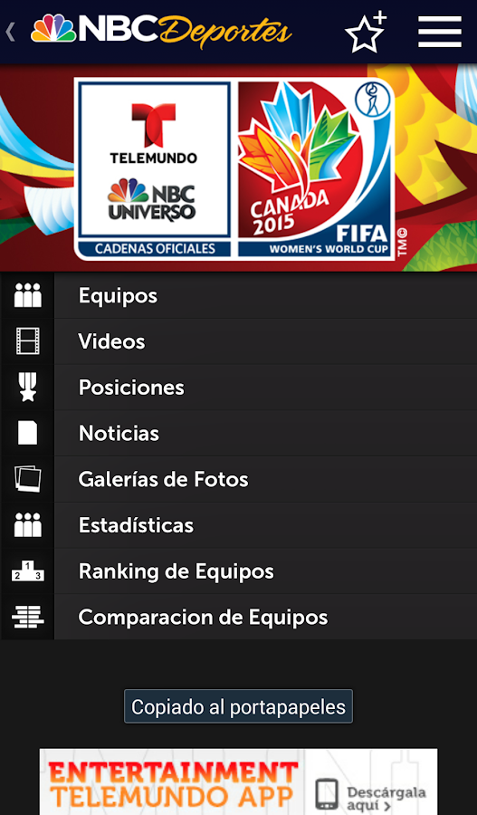 NBC Deportes - screenshot