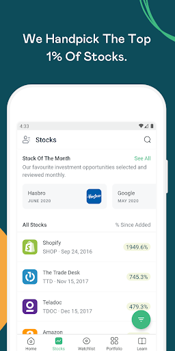 MyWallSt: Buy Stocks, Investment Research and News  Paidproapk.com 1