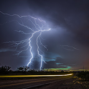 Drive by Shooting by Ed Mullins - Landscapes Weather ( lightning,  )