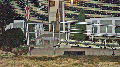 Photo: Handrails for custom ramp.
