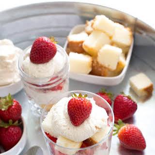 Individual Strawberry Shortcake Trifle.
