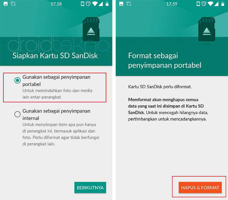 Format ulang SD Card partisi App2SD