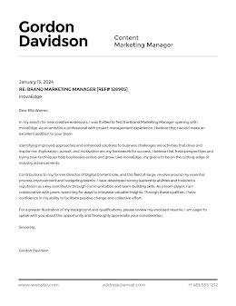 Gordon Davidson - Cover Letter item