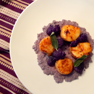 Scallops with Purple Cauliflower and Sage Brown Butter