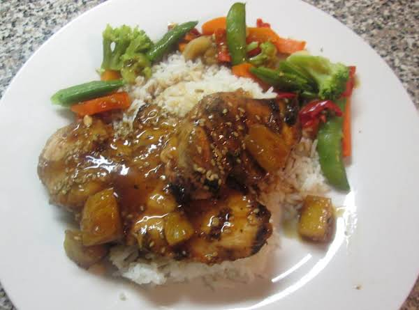 Grilled Teriyaki-ginger Chicken W/pineapples Recipe