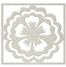 FabScraps KaleidoScope Die-Cut Chipboard Shape - Flower