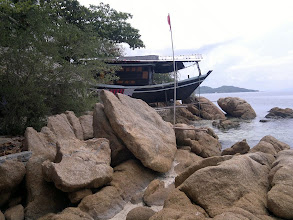 Photo: My neighbour in his boat bungalow.