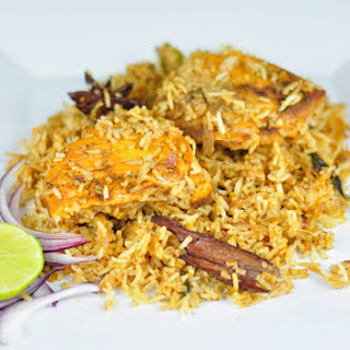 FISH BIRYANI WITH SALMON - A HEALTHY DINNER IDEA